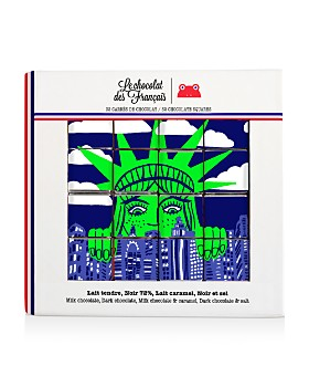Le Chocolat des Francais - Statue of Liberty Chocolate Squares, Set of 32