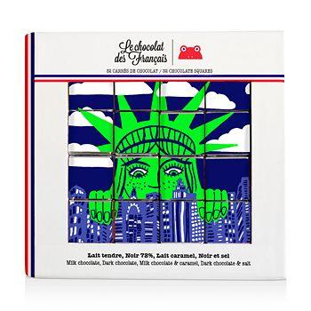 Le Chocolat des Francais - Statue of Liberty Chocolate Squares, Set of 32
