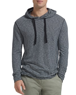 ATM Anthony Thomas Melillo - Long-Sleeve Hooded Striped Jersey Tee