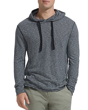 Atm Anthony Thomas Melillo Long-Sleeve Hooded Striped Jersey Tee