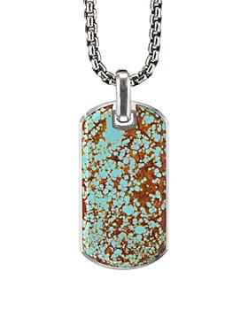 David Yurman - Sterling Silver Streamline® Tag with American Turquoise