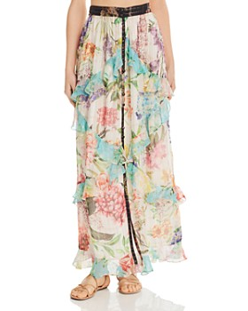 Rococo Sand - Floral Chiffon Maxi Skirt - 100% Exclusive