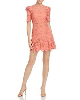 Saylor - Bold Floral Lace Mini Dress