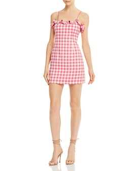 Finders Keepers - Thalia Ruffled Gingham Mini Dress