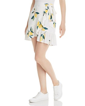 Rails - Etienne Lemon Print Wrap Skirt