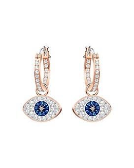 Swarovski - Symbolic Evil Eye Hoop Earrings