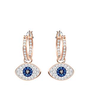 Swarovski Symbolic Evil Eye Hoop Earrings