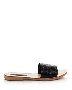 AQUA - Women's Croc-Embossed Slide Sandals - 100% Exclusive