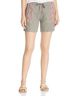 Johnny Was - Sabriya Embroidered Linen Shorts