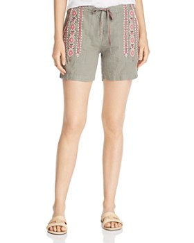 Johnny Was - Sabriya Embroidered Linen Shorts