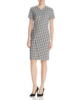 BOSS - Dirmala Checked Short-Sleeve Dress