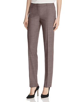 adb97a2a BOSS - Titana Virgin Wool Straight-Leg Pants ...