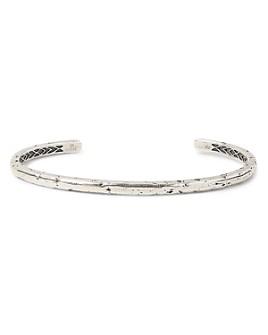 John Varvatos Collection - Sterling Silver Artisan Metals Narrow Cuff Bracelet