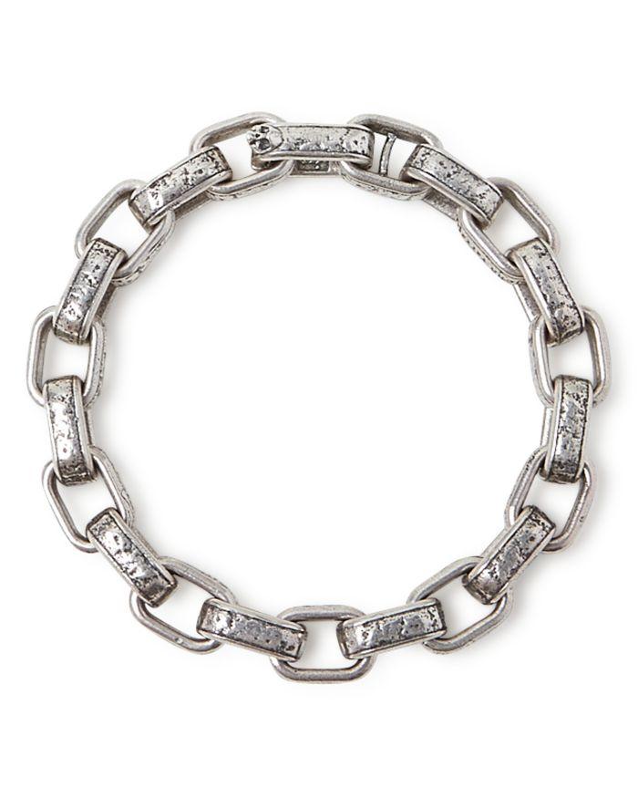 John Varvatos Collection Sterling Silver Artisan Metals Large Link Bracelet  | Bloomingdale's