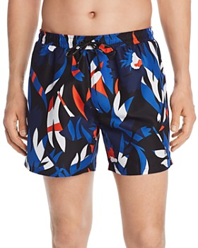 7862fbcb BOSS Hugo Boss - Batfish Floral-Print Swim Shorts ...