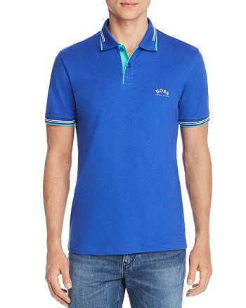 BOSS - Curved-Logo Slim Fit Polo Shirt