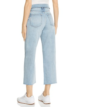 Pistola - Cher Fold-Over Cropped Wide-Leg Jeans in Light Wash