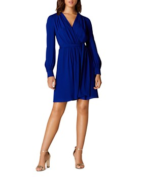 ee752999d6efc KAREN MILLEN - Pintuck Faux-Wrap Dress ...
