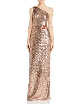 Aidan Mattox - One-Shoulder Sequin Gown