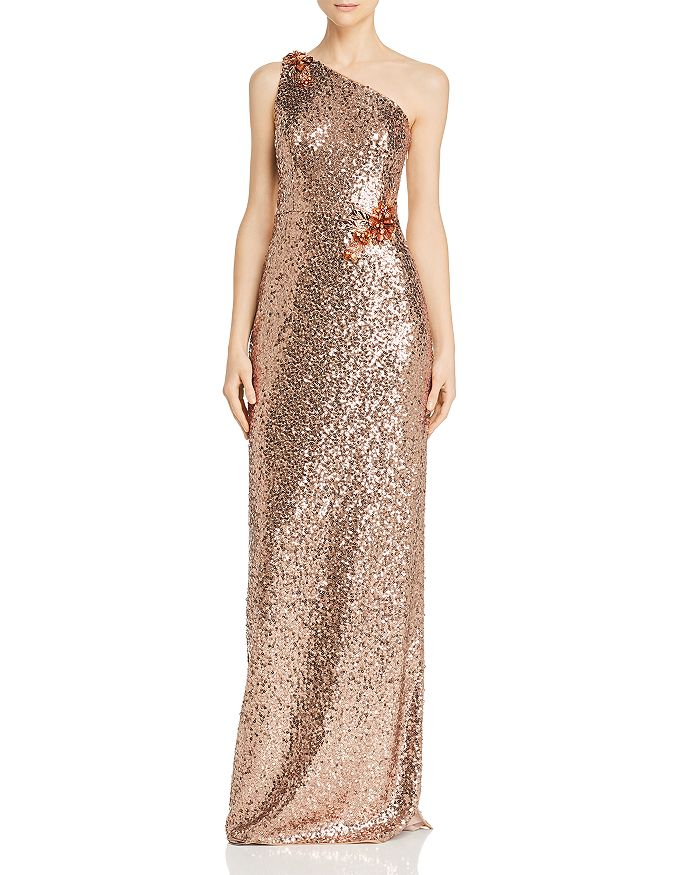 Aidan Mattox - One-Shoulder Sequin Gown
