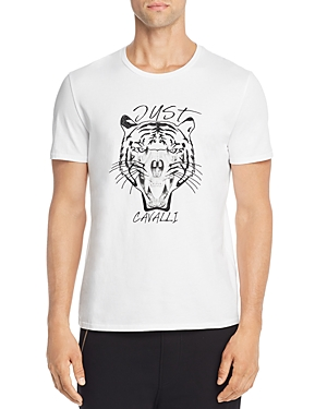 Just Cavalli Embroidered Tiger Skull Graphic Tee