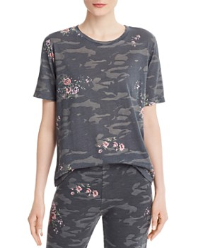 Monrow - Floral Camo Oversized Tee