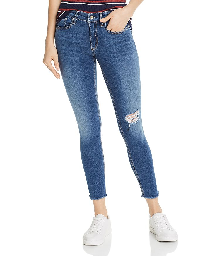 rag & bone - Cate Distressed Ankle Skinny Jeans in Marion