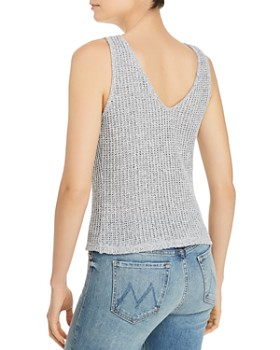 AQUA - V-Back Crochet Tank - 100% Exclusive