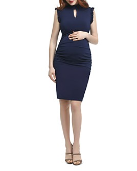 Kimi & Kai - Madeline Ruffle-Trim Maternity Dress