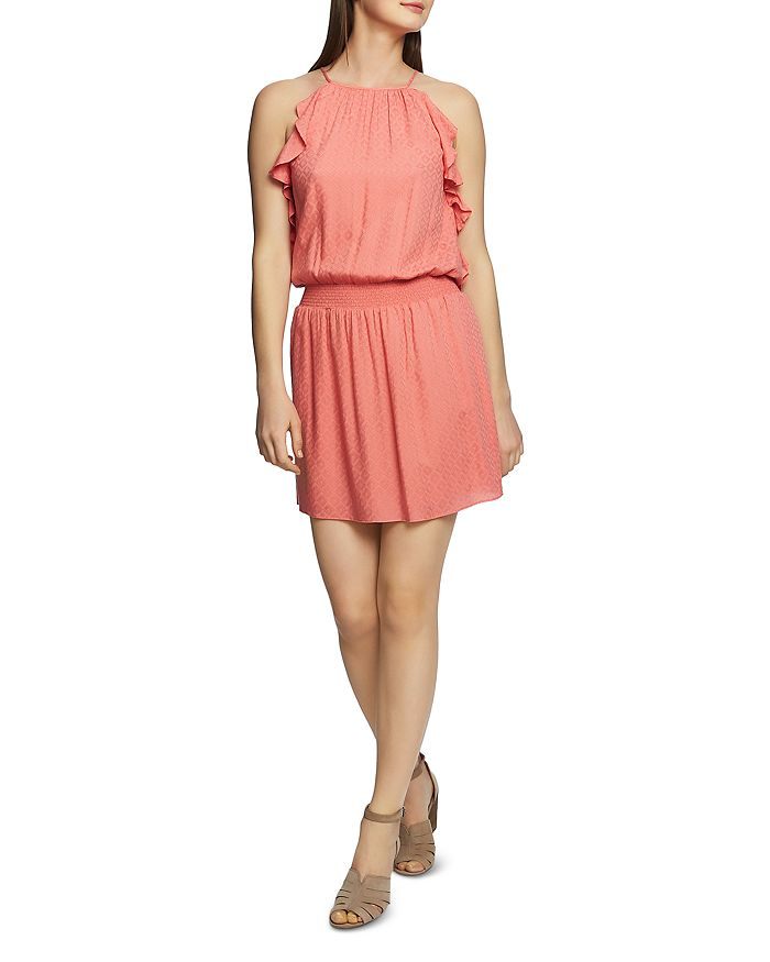 1.STATE - Sleeveless Ruffle-Trim Dress