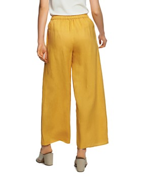 1.STATE - Tie-Waist Wide-Leg Linen Pants