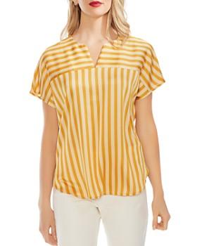 f3b10861 VINCE CAMUTO - Striped Dolman-Sleeve Top ...