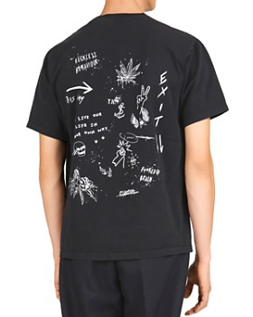 The Kooples - Lost Paradise Cotton Crewneck Tee