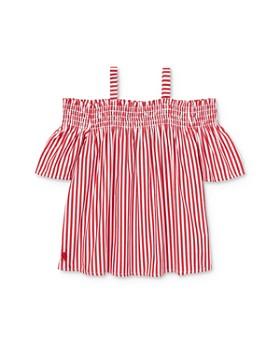 Ralph Lauren - Girls' Striped Off-the-Shoulder Top - Little Kid