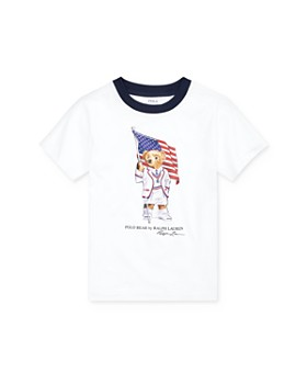 Ralph Lauren - Boys' Flag Bear Tee - Little Kid