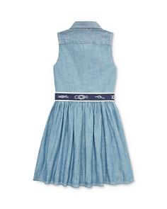 Ralph Lauren - Ralph Lauren Belted Chambray Shirt Dress - Little Kid