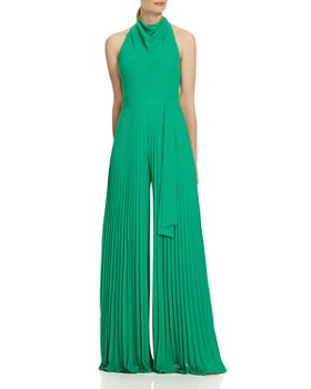 778735a55ba HALSTON HERITAGE - Pleated Wide-Leg Jumpsuit ...
