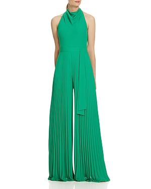 Vintage Dresses Australia- 20s, 30s, 40s, 50s, 60s, 70s Halston Pleated Wide-Leg Jumpsuit AUD 305.45 AT vintagedancer.com