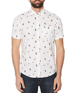 Original Penguin Dad Short-Sleeve Printed Slim Fit Button-Down Shirt