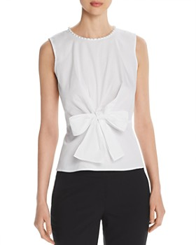 KARL LAGERFELD Paris - Sleeveless Bow-Front Top