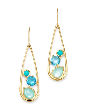 Ippolita 18K Yellow Gold Rock Candy Multi Stone Waterfall Drop Earrings