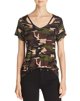 Alison Andrews - Cutout Camo Tee