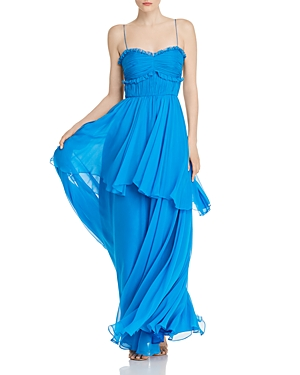 Amur Kiko Silk Maxi Dress