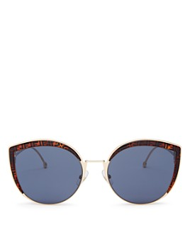 Fendi - Women's Oversized Rimless Cat Eye Sunglasses, 61mm