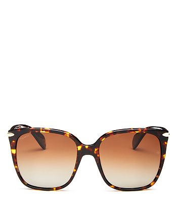rag & bone - Women's Polarized Square Sunglasses, 56mm