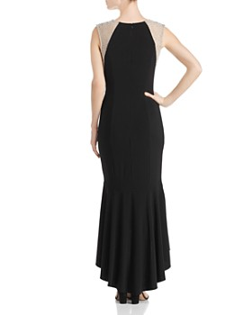 Avery G - Fluted Caviar-Bead Gown