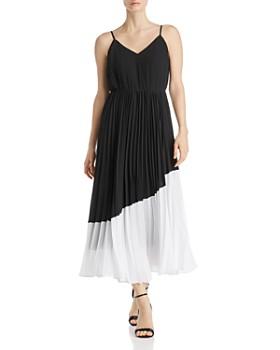 nanette Nanette Lepore - Pleated Color-Block Dress