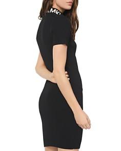 MICHAEL Michael Kors - Ribbed Zip-Front Sheath Dress