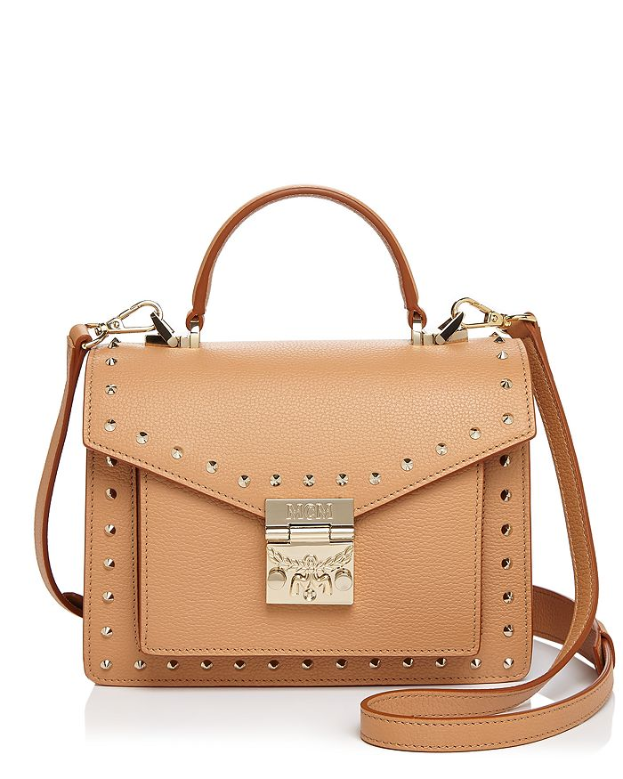 MCM - Patricia Park Avenue Small Studded Leather Satchel