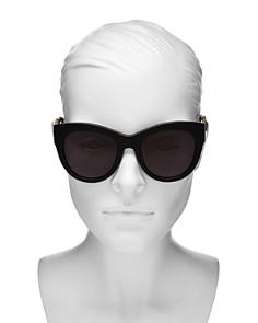 Stella McCartney - Women's Faux Leather-Trim Cat Eye Sunglasses, 51mm